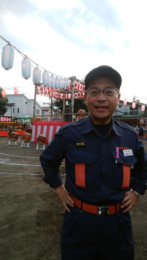 消防団員として盆踊りでの警戒活動